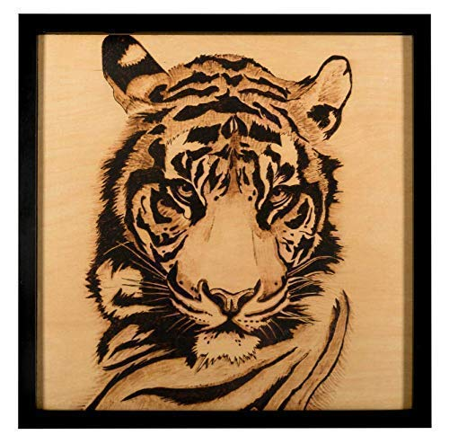 Amazon Com Handmade Wood Burning Art Pyrography Tiger Handmade