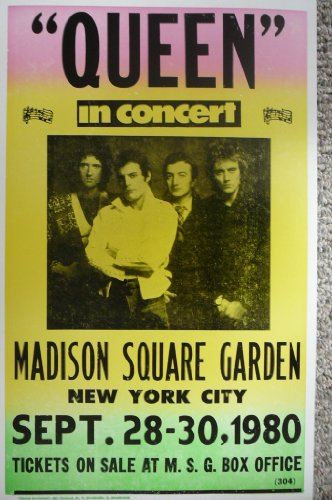 Queen in Concert At Madison Square Garden in NYC Poster