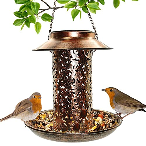 Alimentador De Aves Solares Retro, Alimentador De Pájaros Salvajes De Forma De Araña Al Aire Libre, Decoración De Jardín Solar De Metal, Control Sensor Sensible, IP65 Impermeable