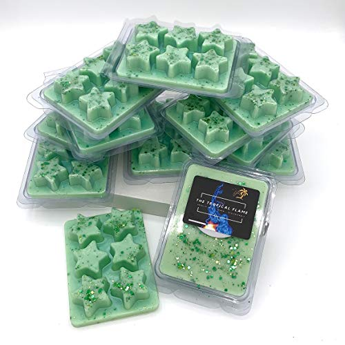 Star Clamshell Highly Scented Wax Melts: 100% Soy-Coconut Wax - Vegan, Cruelty-Free & Long Lasting (Lime Basil & Mandarin)