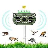 Repellente per Gatti, Repellente Ultrasuoni Energia Solare, Frequenza Regolabile per Allontanare...