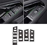 para RR Evoque L551 2019 2020 (Solo para Volante a la Izquierda), ABS Plástico Ventana Elevalunas Interruptor Botón Panel Marco Ajuste