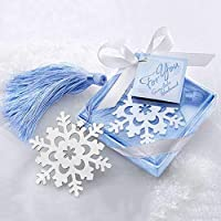 1st market リボンボックスギフト結婚式の装飾新しい素敵なかわいいスノーフレーククリエイティブ合金ブックマークがリリース