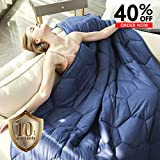YEMYHOM 100% Cotton Weighted Blanket Adult Bed Heavy...
