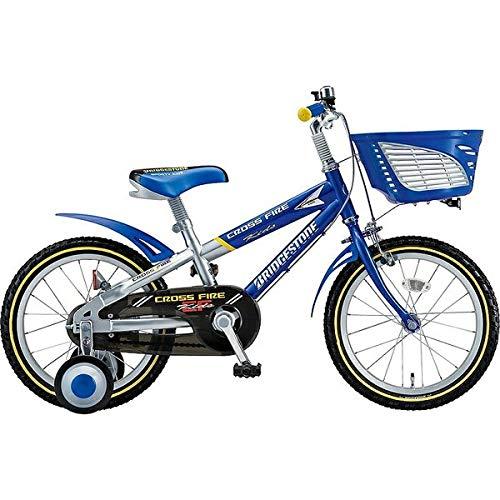 ブリヂストン 子供用自転車 クロスファイヤーキッズ CK166 ブル-&シルバ-