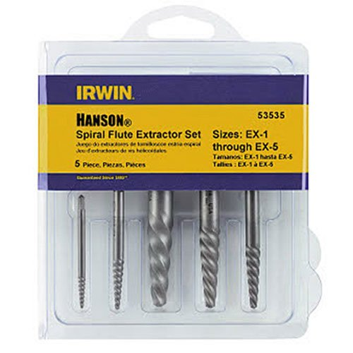 IRWIN Screw Extractor for Spiral Screws, 5-Piece (53535)