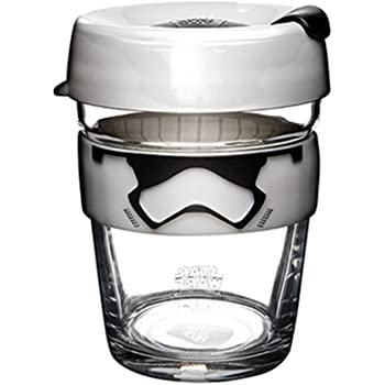 KeepCup Star Wars Brew, Reusable Glass Cup, Medium 12oz | 340mls, Stormtrooper