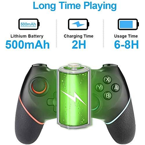 HUJUNG Wireless Controller, Wiederaufladbare Bluetooth Gamepad für Android/Switch, Gaming-Trigger Joystick Handy-Game-Controller mit Telefon-Halter