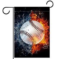 ホームガーデンフラッグ両面春夏庭の屋外装飾 12x18in,火水域野球