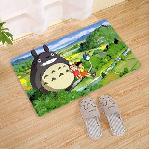 Alfombra Rectángulo Hogar Sala De Estar Balcón Habitación De Los Niños Dibujos Animados Anime Mi Vecino Totoro Patrón Dormitorio Mesita De Noche Tatami Alfombra Simple Moderna