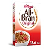 Kellogg's All-Bran, Breakfast Cereal, Original Wheat Bran, Excellent Source of Fiber, 18.6oz Box