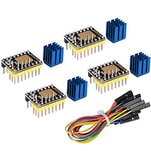PoPprint TMC2130 V3.0 SPI - Controlador de motor paso a paso VS TMC2208 TMC2100 para controlador de impresora SKR V1.3 / V1.1 3D (4 unidades)