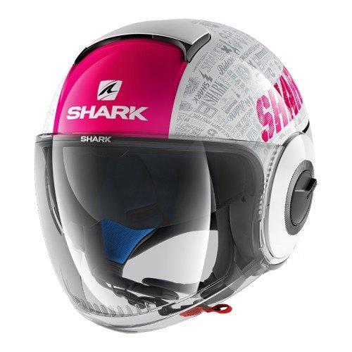 Shark Nano Tribute, casco da moto, nero/viola, taglia M