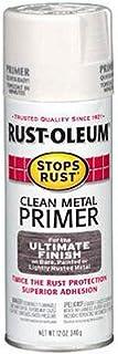 Rust-Oleum 7780830 Stops Rust Spray Paint، 12-Ounce، Flat White Clean Primer Metal Primer