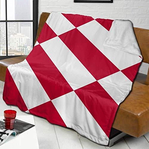 YUNJUAN Manta de Cordero súper cálida con Bandera de Mónaco, Manta para sofá Cama, 60'X 50', Funda cómoda y cálida para Todas Las Estaciones
