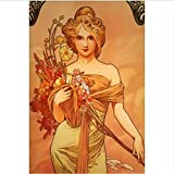 yhnjikl Alphonse Mucha Beste Bild Poster Home Decoration