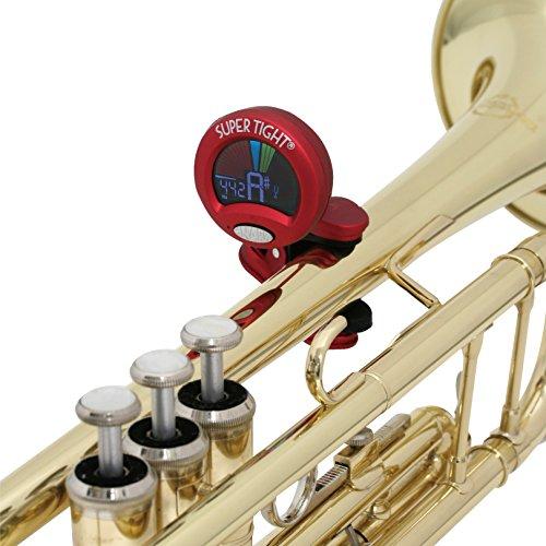 SNARK外部マイク付全楽器対応クリップ式クロマチックチューナーST-2レッド
