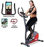 Miweba Sports Ergometer ME400 Trimmrad Cardio Heimtrainer - App Steuerung - 12 Kg Schwungmasse -...