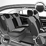DBS - Housses de siège sur Mesure pour Twingo 2 (07/2007 à 08/2014) | Housse Voiture/Auto d'intérieur | Haut de Gamme | Jeu Complet en Tissu | Montage Rapide