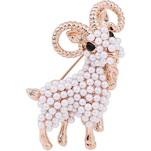 Encantadoras perlas de antílope, broche de cuerpo completo, Pin de solapa, joyería de animales antiguos, falda, cárdigan, sombrero, bufanda, Pin, Pin de solapa, chal