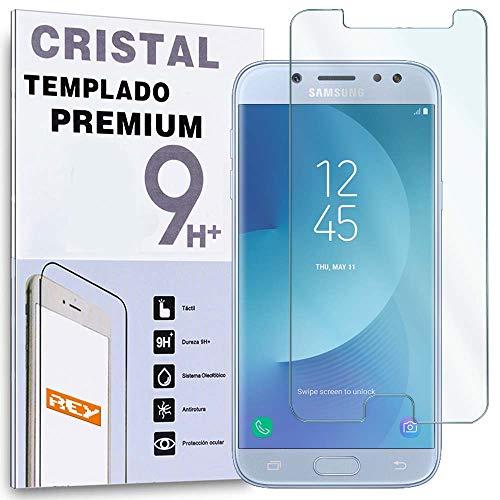 REY Protector de Pantalla para Samsung Galaxy J5 2017, Cristal Vidrio Templado...