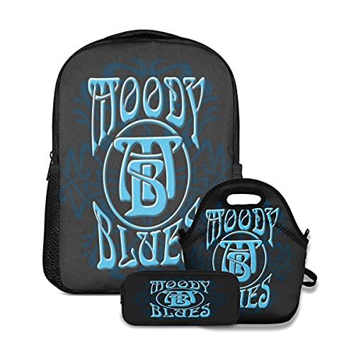 The Moody Blues - Set di 3 zaini, borsa per il pranzo e il pranzo