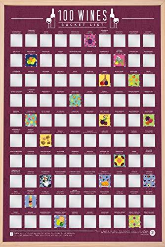 Gift Republic Poster da 100 Vini, Elenco Benna, A2