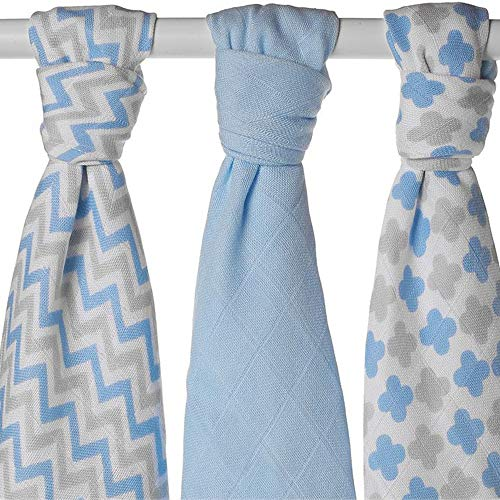 torreya Couche couches tissu mousseline / Lot de 6 /100/% coton bio/ XKKO Prefolds/ faltwindeln couches vorfalz Prefold /Langes en mousseline /