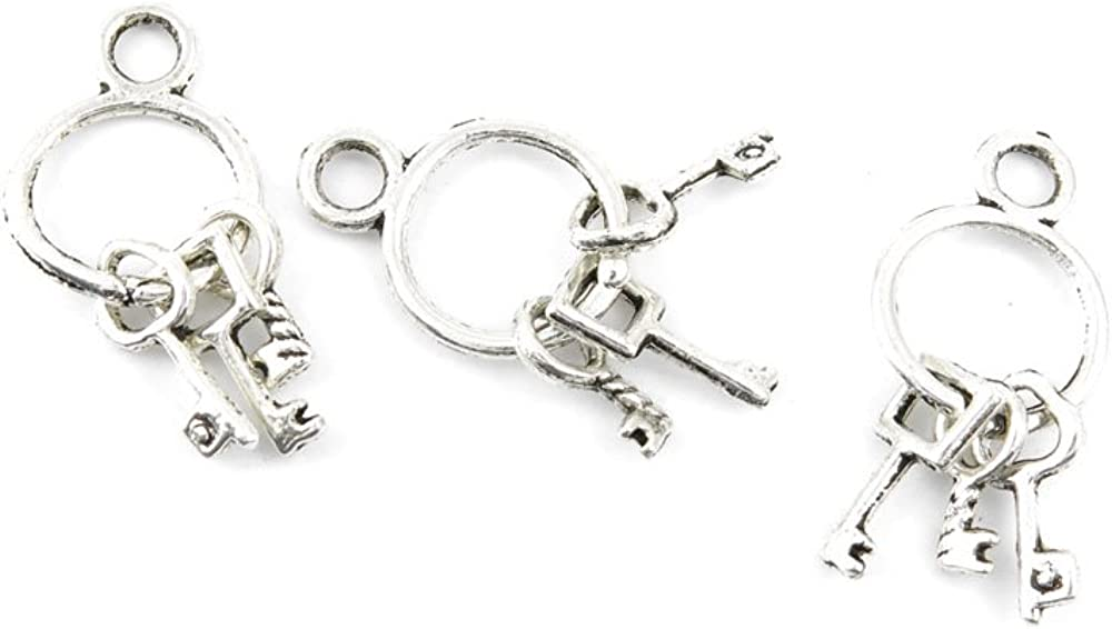 Ancient Ranking TOP16 Silver Jewelry Making Max 55% OFF Charms Findings Keys R0838 Pendent