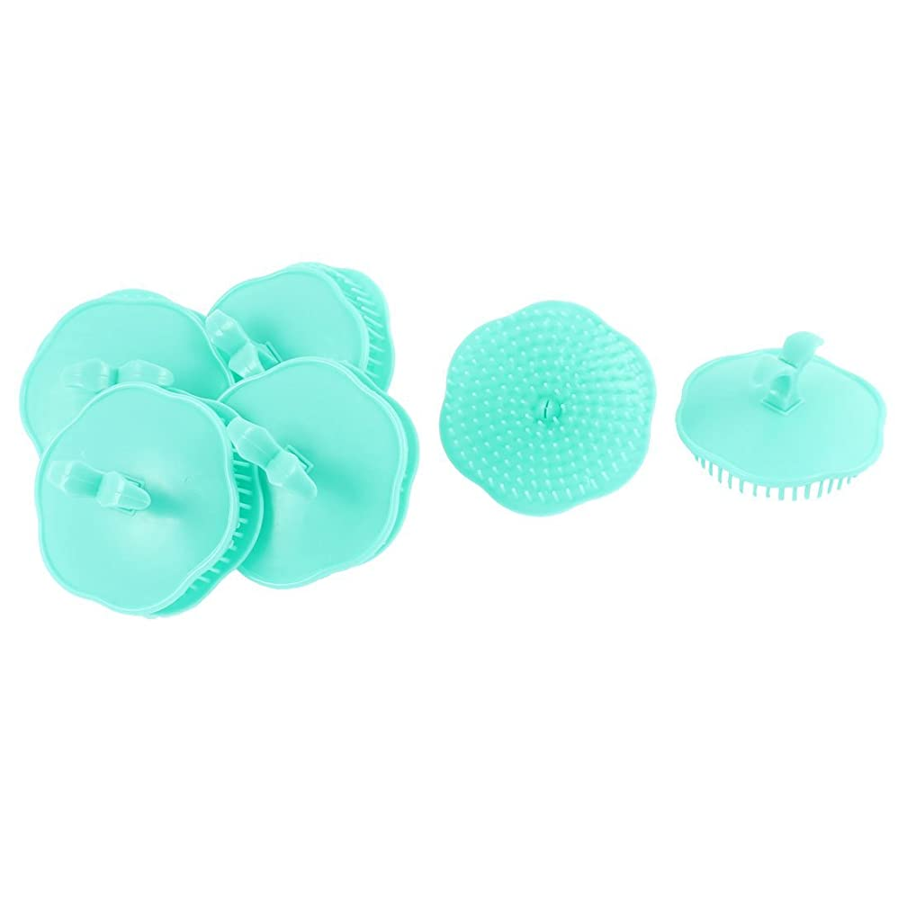 真実にポルトガル語冊子uxcell シャンプーブラシ 洗髪櫛 マッサージャー プラスチック シアン 10個