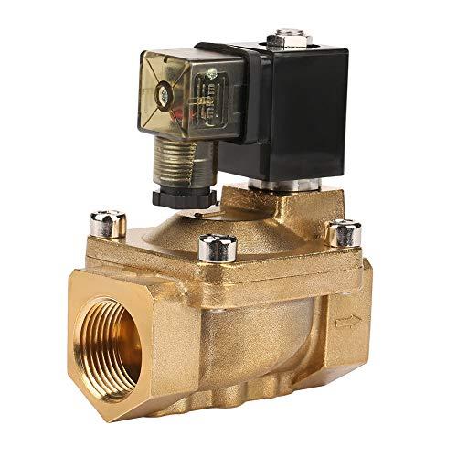 Electroválvula eléctrica Válvula de latón Válvula electromagnética piloto-operada 1pcs G1 para conveniente para medios aplicados de materiales (AC220V)