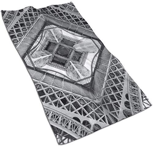 tyui7 Torre Eiffel Monumento francés de París Toalla de Mano Toalla de Cara Baño Cocina Toalla de Viaje de Playa de Microfibra Suave 40x70cm para Piscina Baño Fitness