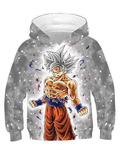 PIZOFF Jungen Mädchen Hoodie 3D Print Kapuzenpullover Sweatshirt, 01130032x07, XS