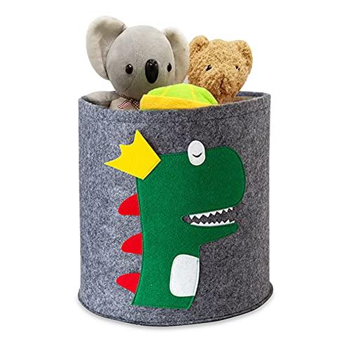 Cesta de lavandería con Diseño de Animales,Cesta de Fieltro para Ropa,Almacenamiento de...