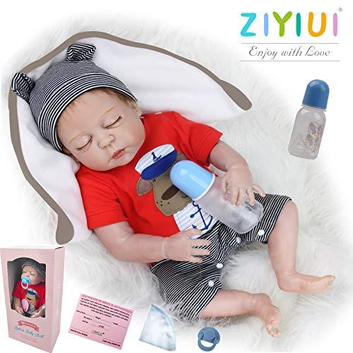 ZIYIUI Muñecas Reborn bebé 50cm 20 Pulgadas Reales Cuerpo Entero Silicona Bebes Reborn niño Realistas Recien Nacidos Hecho a Mano muñeca Reborn Reales Juguetes