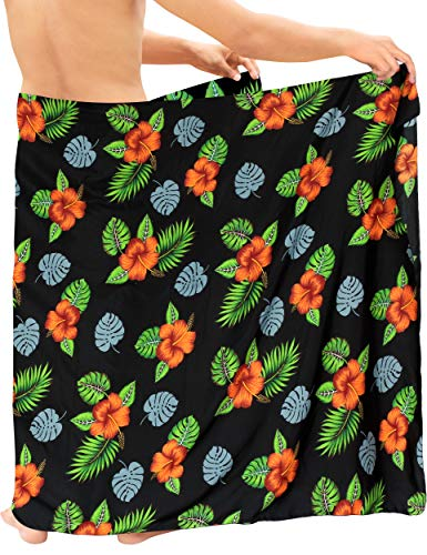 la leela mens swim suits LA LEELA Women's Plus Size Beach Sarong Cover Up Swimwear Wrap Pareo Full Long I