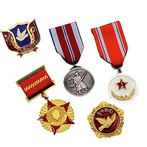 JXS Insignia de Memorial de la Guerra de Corea China, réplica de la Medalla de la Amistad de China-Coreana, el fanático del ejército Conjunto de Insignias coleccionables de 5