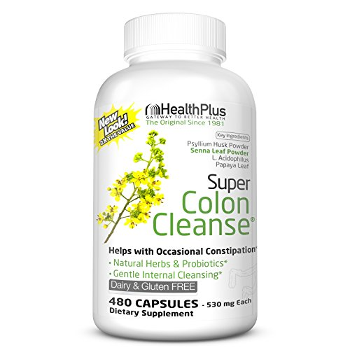 Health Plus Super Colon Cleanse: 10-Day Cleanse -Detox | 12 Cleanses, 480 Count (Pack of 1)