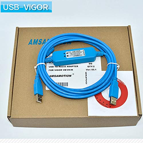 USB-Vigor Adapter passend Vigor VH VB M Serie SPC Programmierkabel USB auf RS232 Download-Kabel USBVIGOR