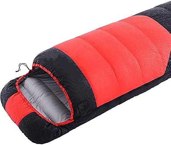 ZXQZ Sac de Couchage Adulte Camping Adulte Simple Plus Sac de Couchage épais Intérieur Chaud Hiver Sac de Couchage Portable Sac de Couchage Adulte (Couleur   Rouge, Taille   2.3kg)