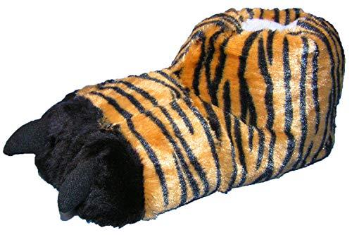 Pfüller Plüsch Hausschuhe Tiger Kralle Tatze witzig Tierhausschuhe, EU 41/42