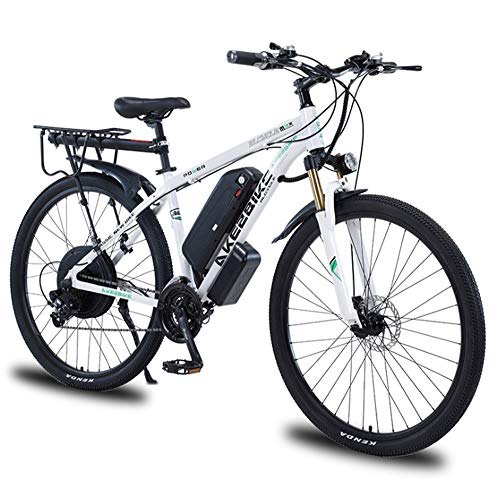 YQ&TL Adults Electric Bike 29 Inch Speed 48V 12A 1000W MTB Full Suspension Gears Dual Disc Brakes Mountain Bicycle Motor Mountain Bicycle For Men B