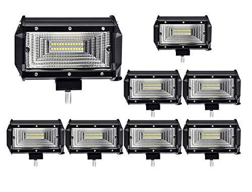 ALPHA DIMA 8X LED Arbeitsscheinwerfer 72W Zusatzscheinwerfer IP67 Wasserdicht Offroad Scheinwerfer 12V 24V Auto Arbeitslicht