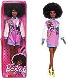 Barbie -Fashionistas Bambola Afroamericana con Giacca alla Moda e Accessori, Giocattolo per Bambini 3+ Anni, GRB48