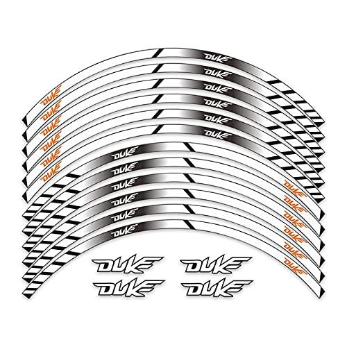wjyfexble Pegatinas de la Rueda Trasera Delantera de la Motocicleta Moto Reflective Etiqueta engomada en Las calcomanías de decoración del hub de Ruedas Compatible con KTM Duke 390 790 250 200 WYJHN