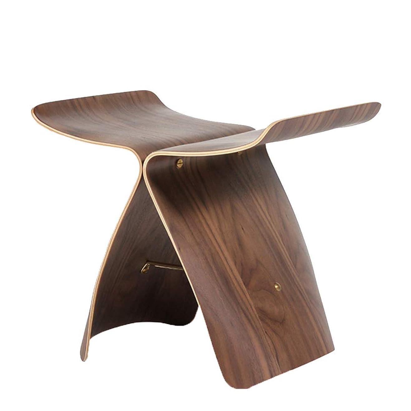 食品講堂肘JIANFEI フットスツールバタフライスツール テーブルスツール ベントウッド 防湿 、4色 44x31x40cm (色 : Brown)