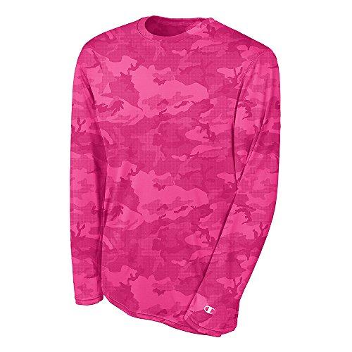 Champion Double Dry Long Sleeve Tee CW26 - Wow Pink Camo - 3XL