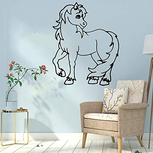 Beautiful horse self-adhesive vinyl waterproof wall art decals children room mural 45X55cm