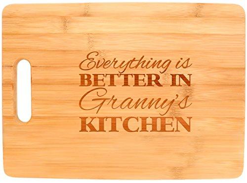 TODO es mejor en la cocina de la abuela Grandma regalo de bambú tabla de cortar