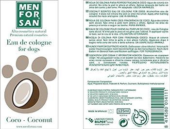 Menforsan Eau de Cologne Noix de Coco pour Chien 125 ML